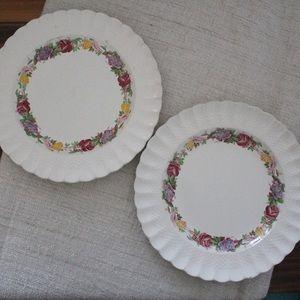 Set of 2 Copeland Spode Rose Briar Plate L864